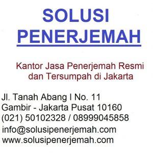 Jasa penerjemah tersumpah Jakarta