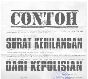 Kantor Jasa Penerjemah Surat Kehilangan